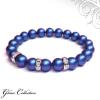 Ragyogj.hu Swarovski gyöngy karkötő - Iridescent Dark Blue