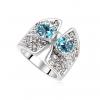Ragyogj.hu - Swarovski Luna.- kék- Swarovski kristályos-gyűrű