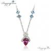 Ragyogj.hu - Swarovski Ornatus -kék és rózsaszín - Swarovski kristályos - Nyakék