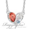 Ragyogj.hu - Swarovski Törött szív - piros- Swarovski kristályos nyaklánc
