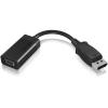 RaidSonic Displayport 1.2 -> VGA M/F adapter 0.15m fekete