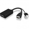 RaidSonic HDMI -> Displayport M/F adapter 0.15m fekete