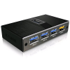 RaidSonic ICY BOX-70401 RaidSonic ICY BOX USB3.0 Hub 4 port fekete /IB-AC611/
