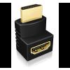 RaidSonic IcyBox 2 szett HDMI adapter 2 külön irányba (felfelé/lefelé) IB-CB009-1