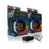 RAIJINTEK Iris 12cm RGB LED 3db-os szett vezérlővel (0R400045)