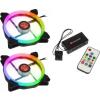 RAIJINTEK Iris 14cm Rainbow RGB LED 2-es csomag vezérlővel (0R400049)