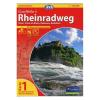 Rajna menti kerékpárút térkép / Rheinradweg Eurovelo 6 / BVA