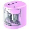 """RAPESCO Hegyező, kétlyukú, asztali, elemes, USB töltővel, RAPESCO""""PS12-USB"""", rózsaszín"""