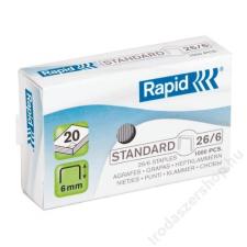 """Rapid Tűzőkapocs, 26/6, horganyzott, RAPID """"Standard"""" gemkapocs, tűzőkapocs"""
