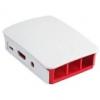 Raspberry Pi 2 ház (fehér/piros) /0640522710676/