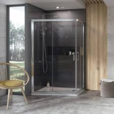 Ravak 10° 10AP4 120x90 cm zuhanykabin, szatén + Transparent 0ZVG70U00Z1 kád, zuhanykabin