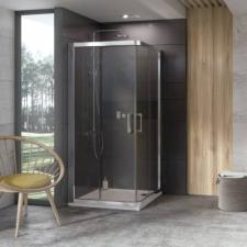 Ravak 10° 10RV2 zuhanykabinok fehér, szatén, krómhatású kerettel, transparent edzett biztonságiüveg betéttel  1ZI70100Z1 kád, zuhanykabin