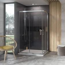 Ravak 10° 10RV2K +10° 10RV2K - 110 zuhanykabin krómhatású kerettel, transparent edzett biztonságiüveg betéttel  1ZJD0C00Z1 kád, zuhanykabin