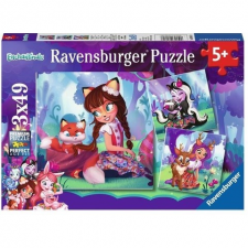 Ravensburger : Enchantimals 3 x 49 darabos puzzle puzzle, kirakós