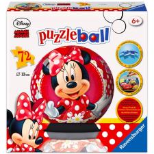 Ravensburger Ravensburger: Minnie egér 72 darabos gömb puzzle puzzle, kirakós