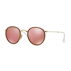 Ray-Ban RB3517 001/Z2 ROUND GOLD BROWN MIRROR PINK napszemüveg