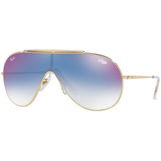 Ray-Ban RB3597 001/X0 WINGS GOLD CLEAR GRADIENT BLUE MIRROR RED napszemüveg