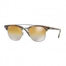 Ray-Ban RB3816 1238I3 CLUBMASTER DOUBLEBRIDGE GUNMETAL BROWN MIRROR SILVER GRADIENT GOLDnapszemüveg