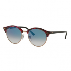 Ray-Ban RB4246 12573F CLUBROUND SPOTTED GREY/VIOLET CLEAR GRADIENT BLUE napszemüveg