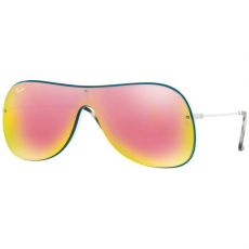 Ray-Ban RB4311N 63624Z WHITE ON TOP PETROLIUM GREY MIRROR YELLOW ROSE napszemüveg