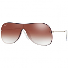 Ray-Ban RB4311N 6375V0 BORDEAUX ON TOP BLUE CLEAR GRADIENT RED MIRROR RED napszemüveg