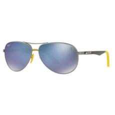 Ray-Ban RB8313M F003H0 FERRARI MATTE GUNMETAL GREY MIRROR BLUE POLAR napszemüveg