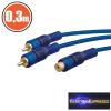 RCA kábel 2 x RCA dugó - 1 x RCA aljzat 0,3 m