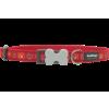 Red Dingo nyakörv Design Paw Impressions piros 12 mm x 20-32 cm