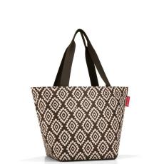 Reisenthel Shopper M barna gyémánt női bevásárló táska