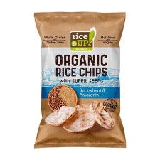"""Rice Up Barnarizs chips, 25 g,  """"Bio"""", hajdinával és amaránttal biokészítmény"""