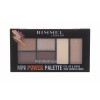 Rimmel London Mini Power Palette szemhéjpúder paletta 6,8 g nőknek 001 Fearless