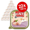RINTI Feinest óriáscsomag 22 x 150 g - Szárnyas & lazac