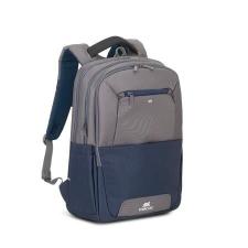 """RivaCase Notebook hátizsák, 17,3"""",  """"Suzuka 7777"""", acélkék-szürke kézitáska és bőrönd"""