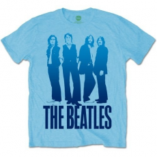 Rock Off The Beatles Mens Iconic Image on Logo Light Blue T Shirt M