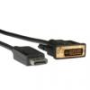 ROLINE Kábel DisplayPort - DVI (24+1) M/M 1.0m