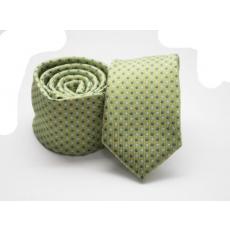 Rossini Prémium slim nyakkendõ - Zöld aprópöttyös
