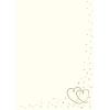 Rössler Papier GmbH and Co. KG Rössler A/4 design lev.papír  bézs színű  arany szívekkel