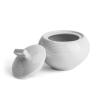 """ROTBERG Cukortartó fedővel, porcelán,  30 cl, , """"Elegante"""", fehér"""