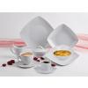 ROTBERG Leveses tálka, porcelán, négyszögletes , 17 cm, ROTBERG,  Quadrate , fehér