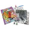 Royal & Langnickel Számozott üvegmatrica kifestő készlet ragyogó színű áttetsző akrilfestékekkel - 24x33 cm - Pillangók