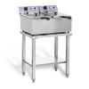 ROYAL CATERING Elektromos fritőz - 2 x 17 liter - asztallal