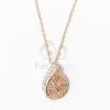Rózsaarany bevonatos nyaklánc kövekkel díszített medállal jwr-1080