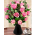 Rózsaszín rózsa körcsokor