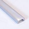 RS Alu profil eloxált (MINI-01-A) LED szalaghoz, átlátszó