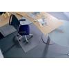 "RS OFFICE Székalátét, kemény felületre, E forma, 75x120 cm, RS OFFICE ""Roll-o-Grip"""