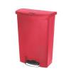 RUBBERMAID Front Step műanyag szemetes kosár, 90 l térfogat, piros