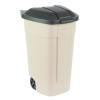 RUBBERMAID Mobile Containers műanyag hulladékgyűjtő szelektív hulladékhoz, 100 l térfogat, fekete