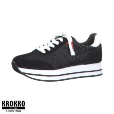 S.Oliver 23612-35-001 fekete fűzős sneaker sportcipő