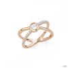 S.Oliver ékszer Női gyűrű ezüst RosĂŠgold cirkónia X-Gyűrű Ékszer 201514 58 (18.4 mm Ă?)