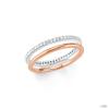 S.Oliver ékszer Női gyűrű Steck-Gyűrű Ékszere ezüst RosĂŠ cirkónia 202101 56 (17.8 mm Ă?)